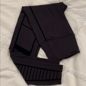 Alo yoga moto leggings with flocked detailing